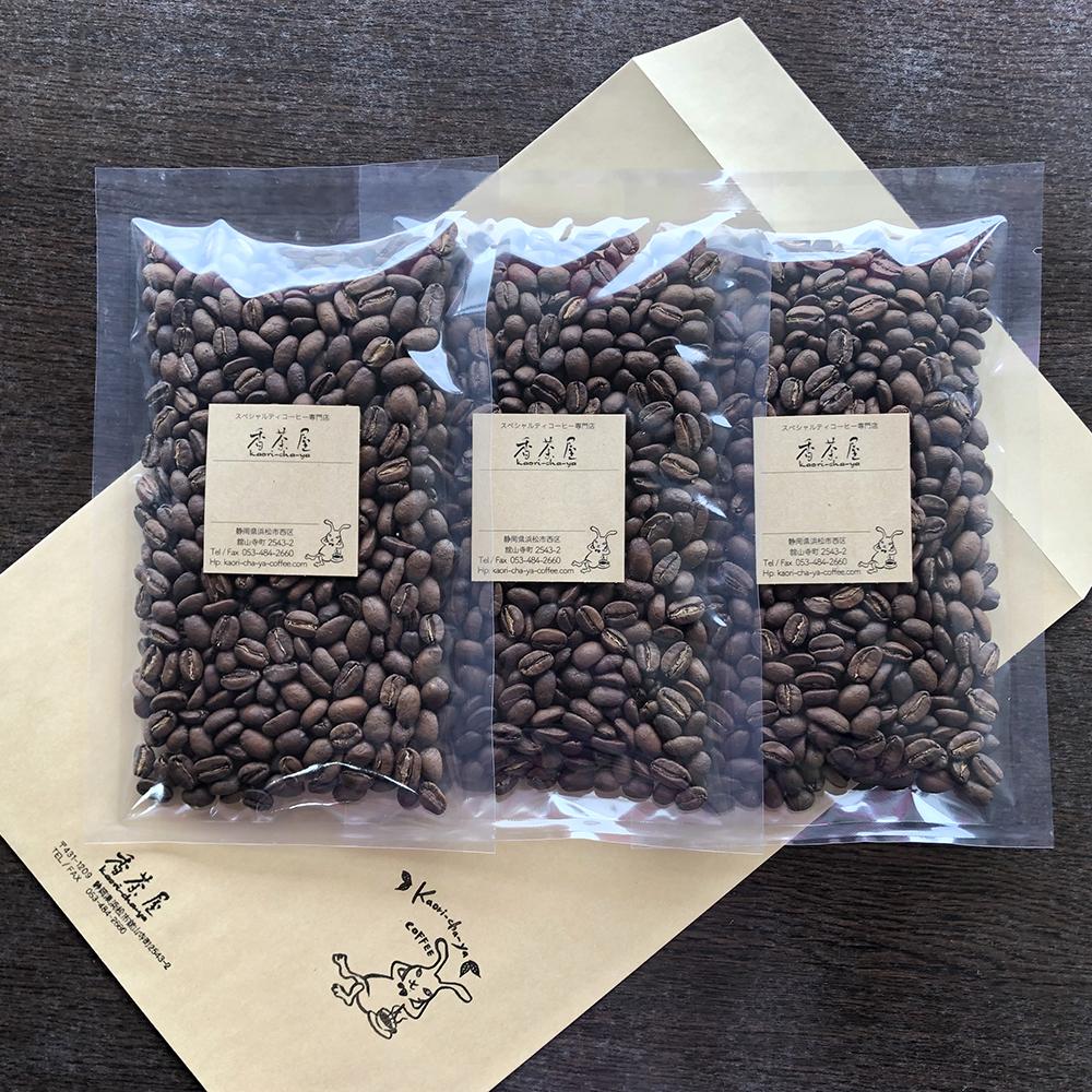香茶屋・定期便6ヶ月コース(コーヒー豆100g×3種類)